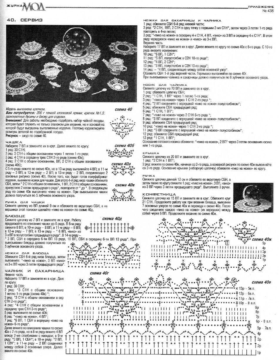 Чайный сервиз амигуруми crochet Pinterest Амигуруми 99