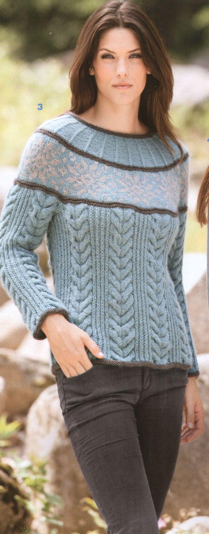 Вязаные свитера спицами женские схемы, описание и видео 35