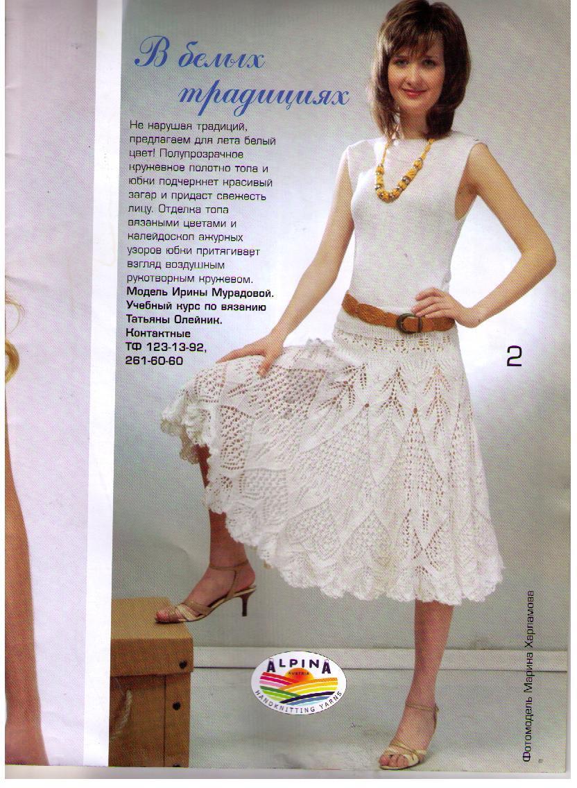 Вязание спицами ажурная юбка для женщин