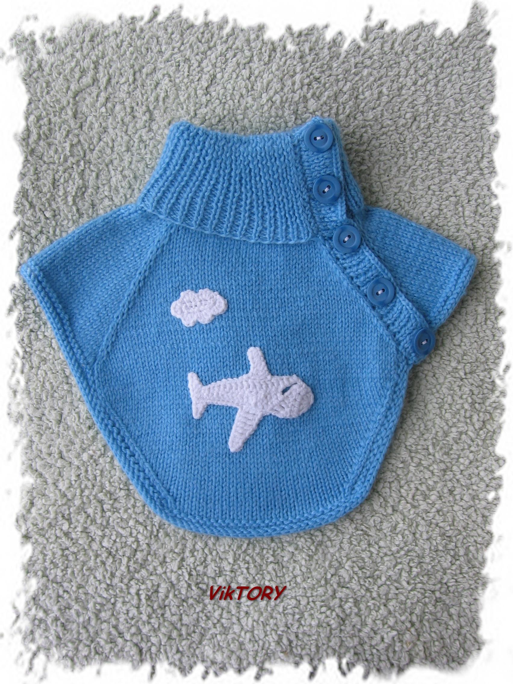 Манишка для мальчика спицами, схема вязания для 36