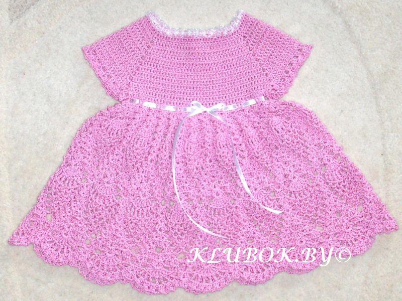 Вязание крючком детское платье схемы и модели