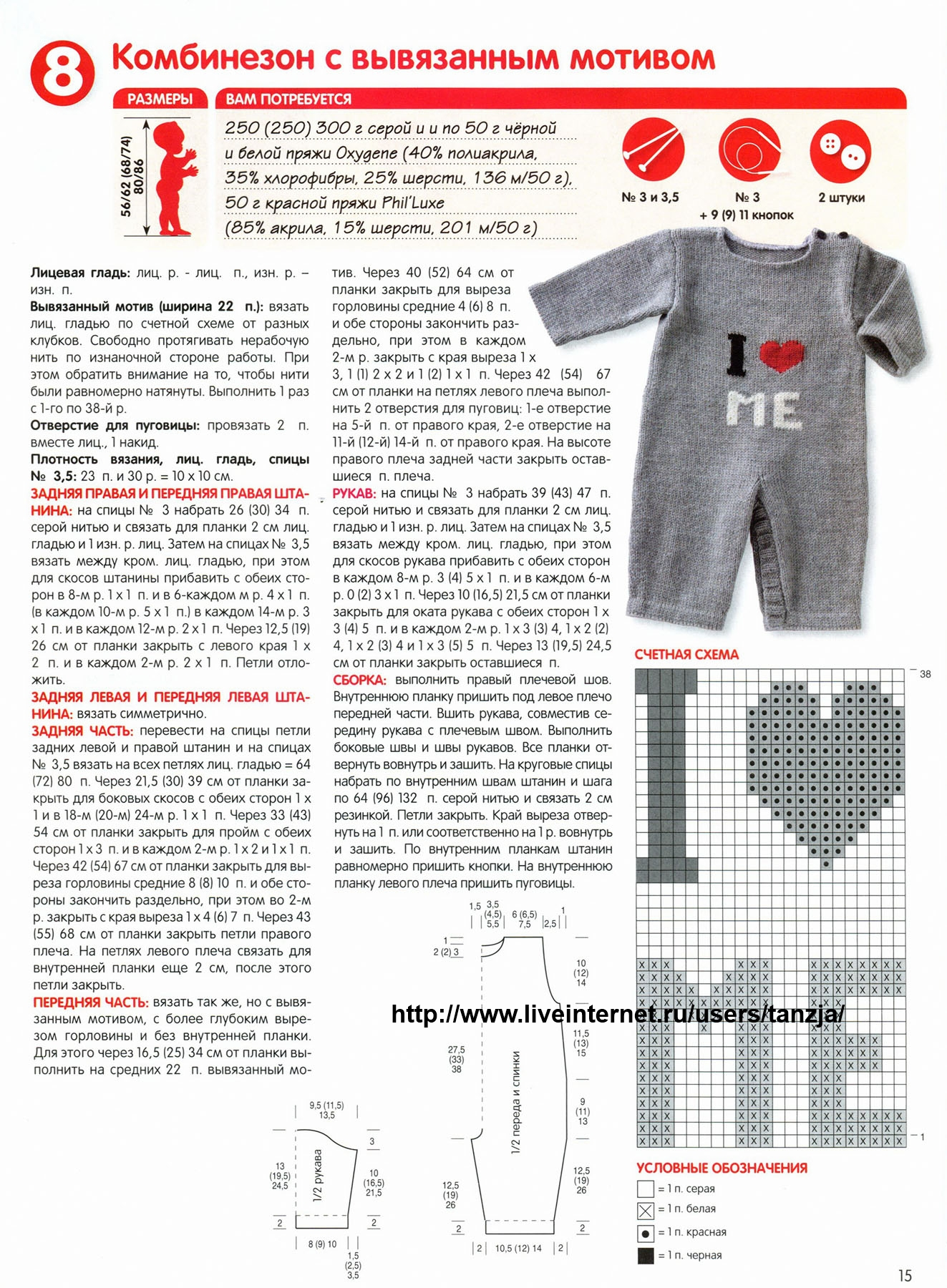 Вязание комбинезона от 0 до 3 лет
