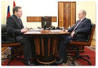 Встреча Олега Королева и Владимира Путина