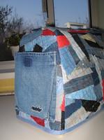 Сшить чехол для швейной машинки из старых джинсов 12