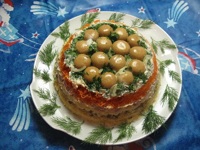 Салат грибная поляна рецепт фото