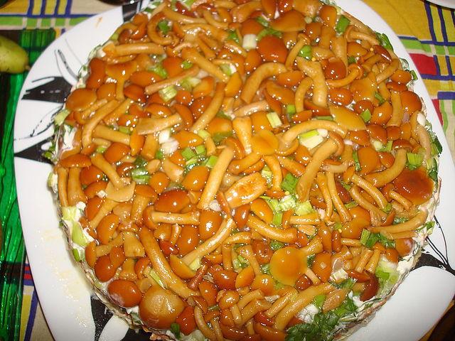 Салат грибная поляна с <a href=