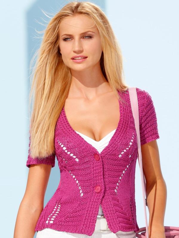 летняя блузка ажурная крючком