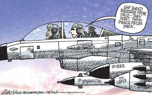 Война в Ливии, карикатуры