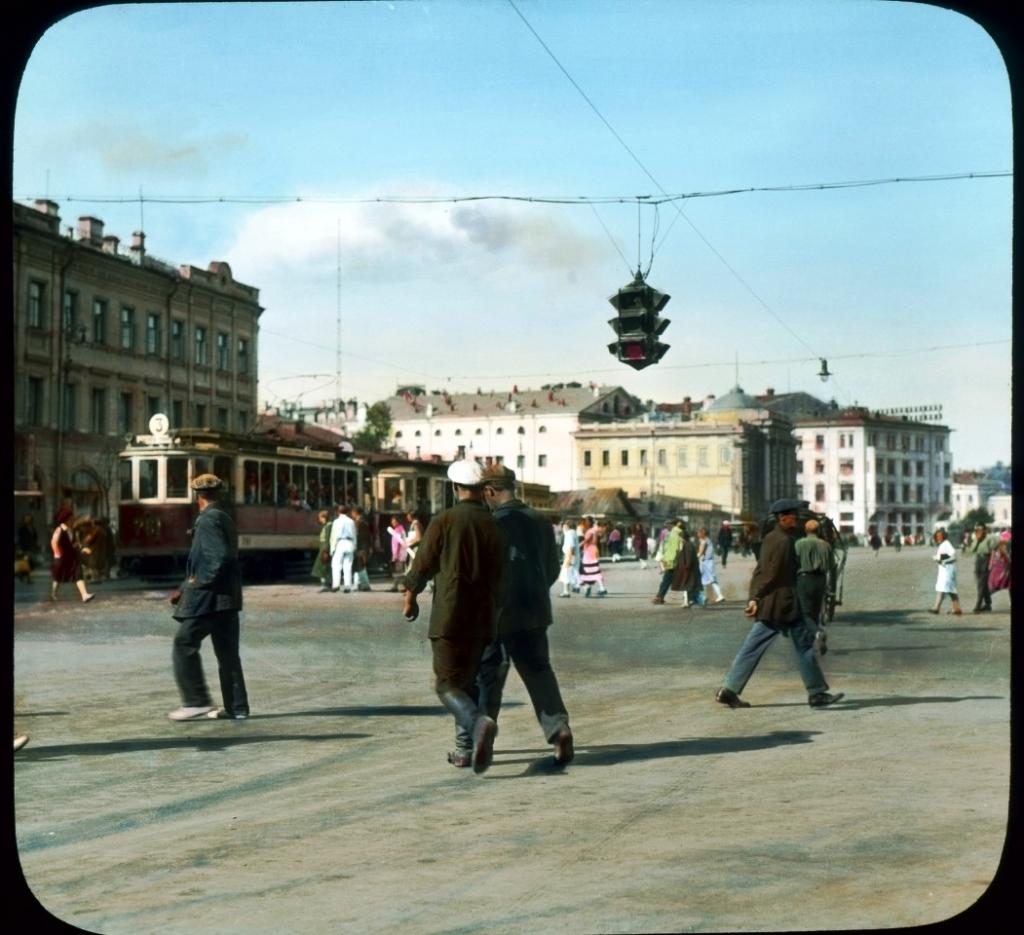 Фото Москвы, улица Тверская, 1931 год