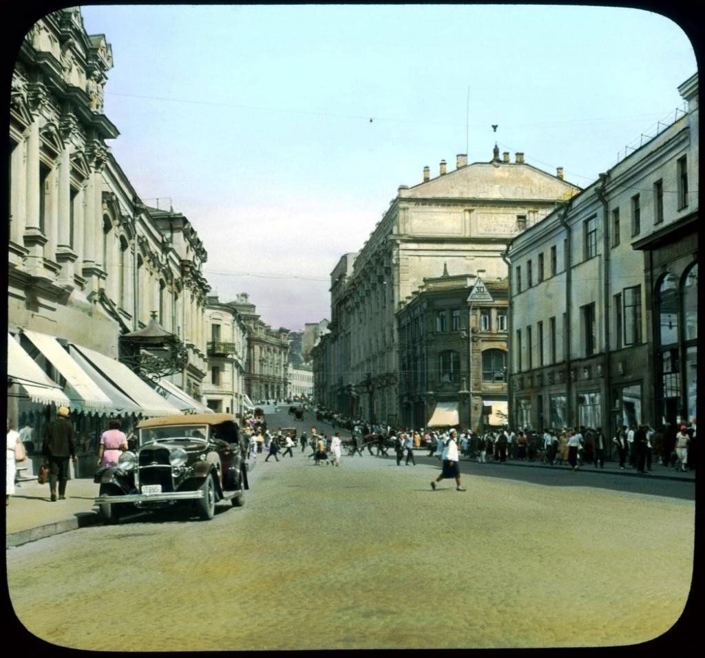 Фото Москвы, Кузнецкий мост, 1931 год