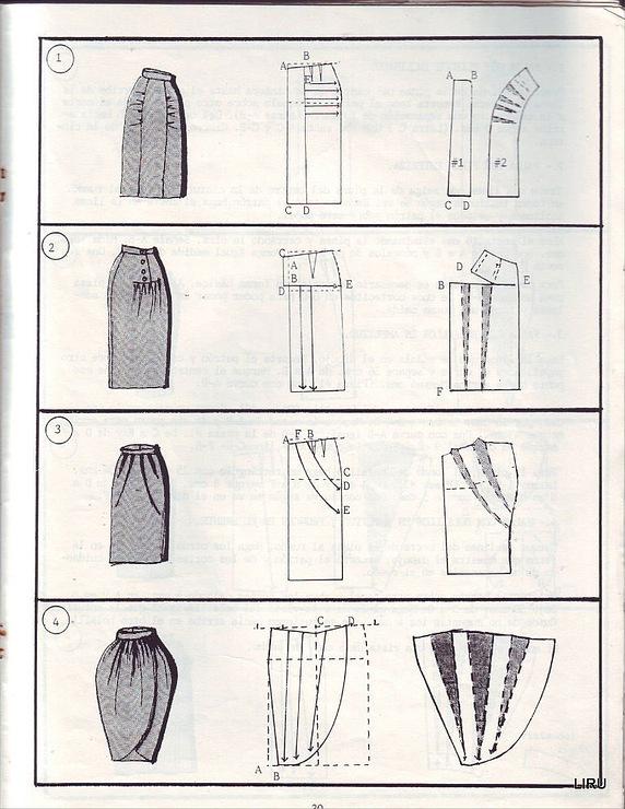 из основы выкройки юбки-трапеции - YouTube